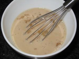 Mezcla de ingredientes humedos