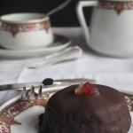 mini tarta sacher falsa