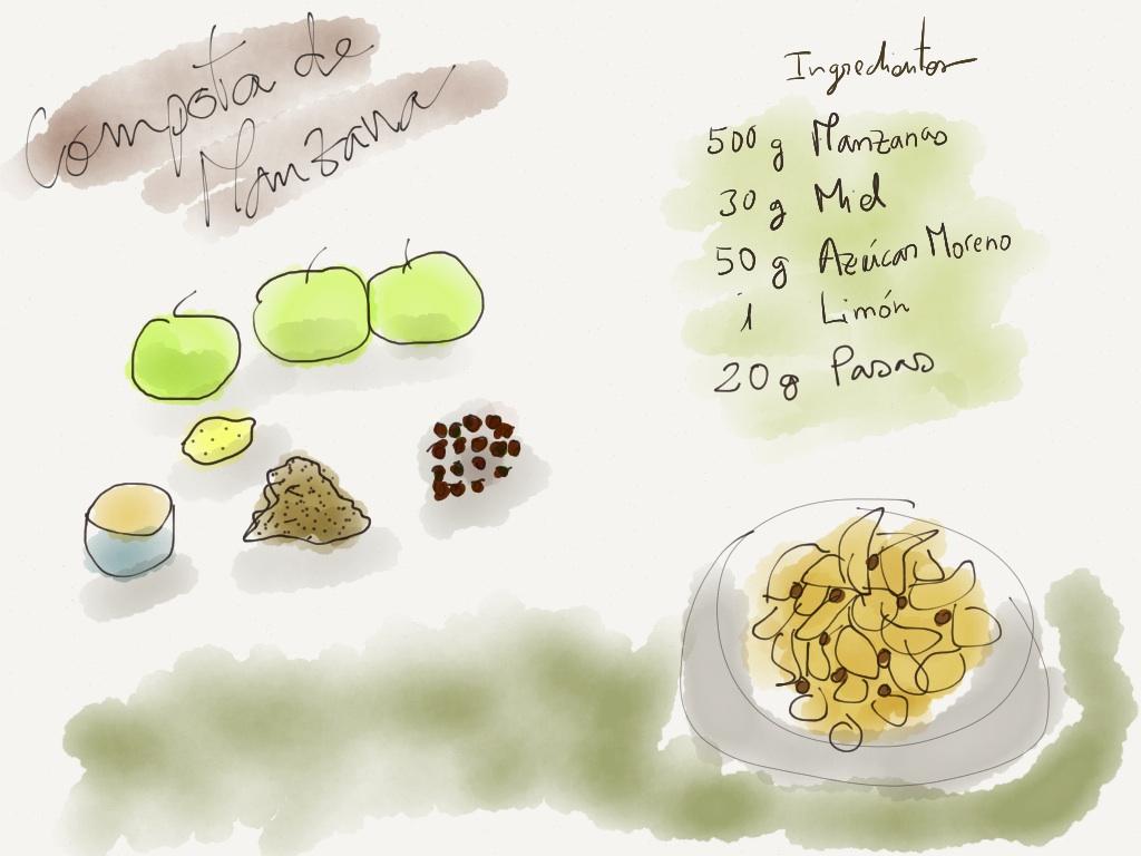 compota de manzana - ilustración
