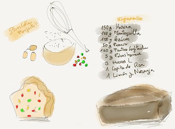 Ilustración Plum Cake