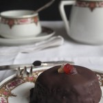 mini tarta sacher falsa