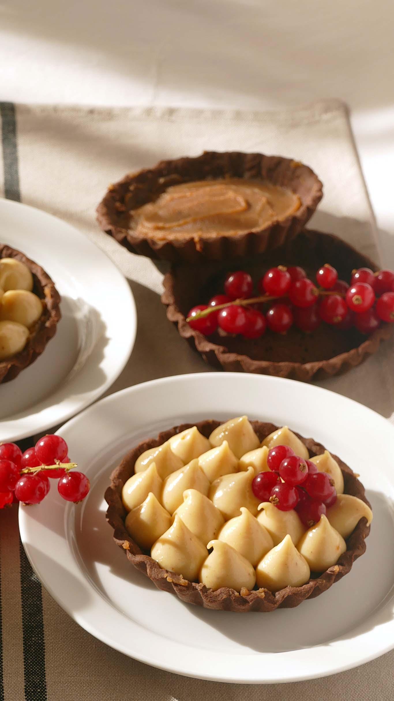 Tartaleta de chocolate y marrón glacé