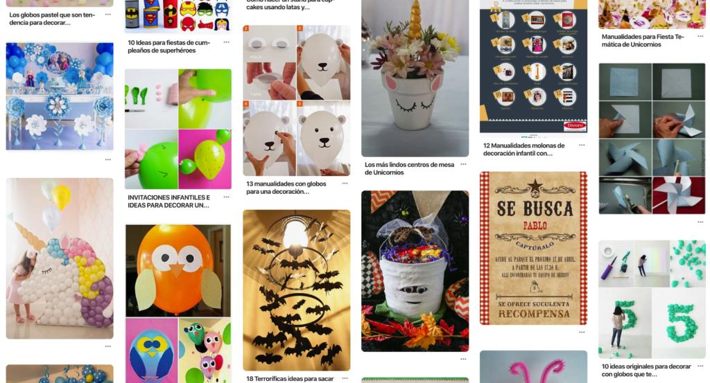 Manualidades que encontrarás en Pinterest para decorar tu fiesta infantil.