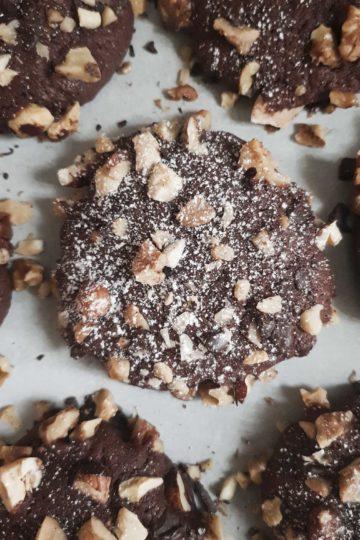 Cookies de chocolate especiadas.