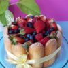 Tarta de fresas o Carlota de fresas