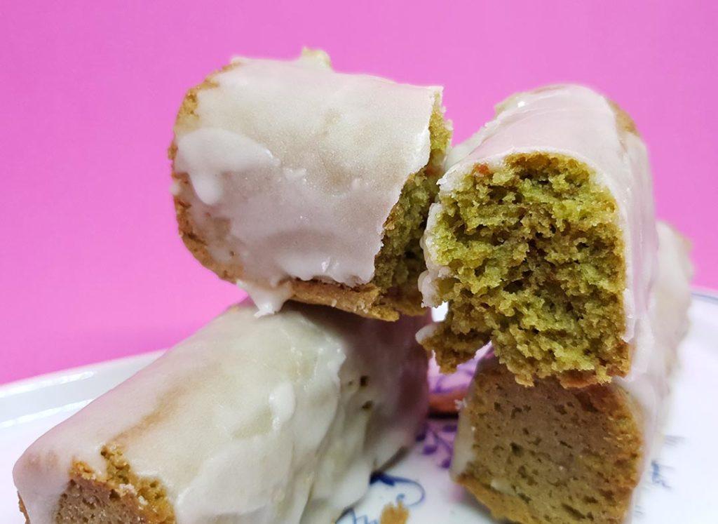 Minicake de té matcha